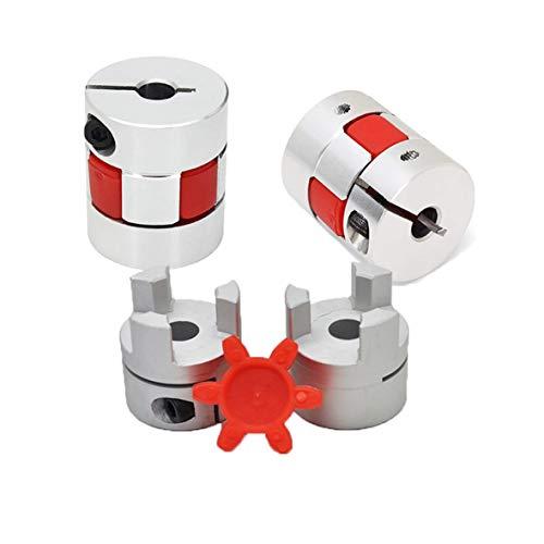 RATTMMOTOR Flexible Kupplung, 3 Stück, 6,35 mm auf 10 mm, Pflaumen-Kupplung, L30 D25 Spindel-Kupplung, Aluminiumlegierung, flexible Backen, Spinnen-Kupplung für CNC-Gravier-/Fräsmaschinen