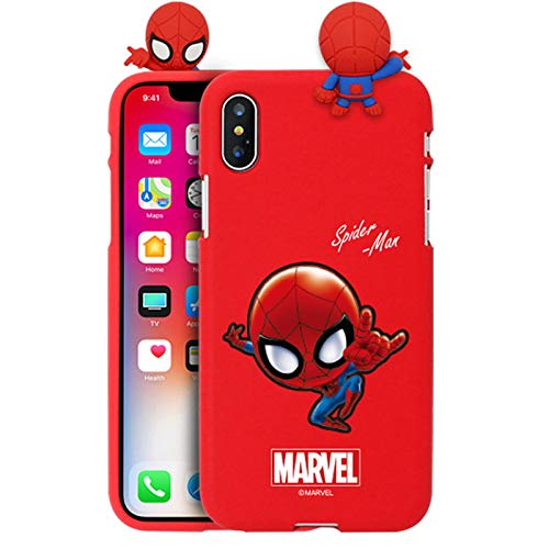 Schutzhülle für Apple iPhone 8 Plus/iPhone 7 Plus (Spiderman) mit Avengers-Charakteren