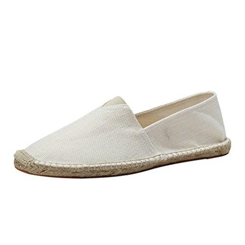 Lvguang Unisex Classic Scarpe da Uomo Mocassini Slip On Penny Loafers Casual Eleganti Scarpe da Guida Bianca, Asia 45 (275cm)