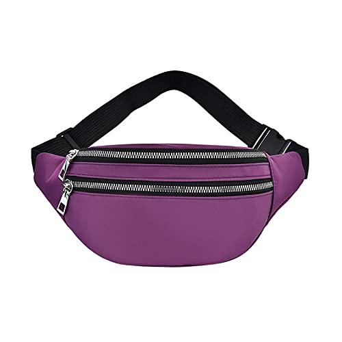enioysun Geestock pochete feminina moda pochete casual bolsa transversal peito unissex quadril bum bolsa de viagem cinto bolsa esportiva bolso bolsa bolsa bolsa esportiva (roxa)