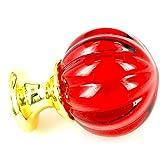 Manijas De Cristal 10Pcs-Set 25Mm Multicolor Pumpkin Clear K9 Perillas De Vidrio De Cristal Con Base Dorada Pulida Armario Armario Tocador Armario Cocina Tirador Tirador (Color: Red, Size: 30Mm)