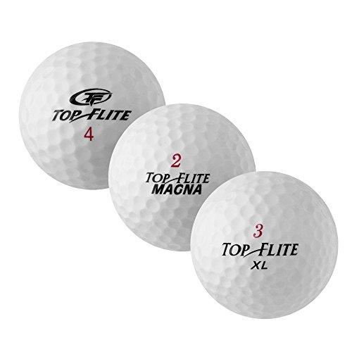 Pearl Golf 50Top Flite Mix–AAAA de AAA–Color Blanco–Lakeballs–Pelotas de golf usadas