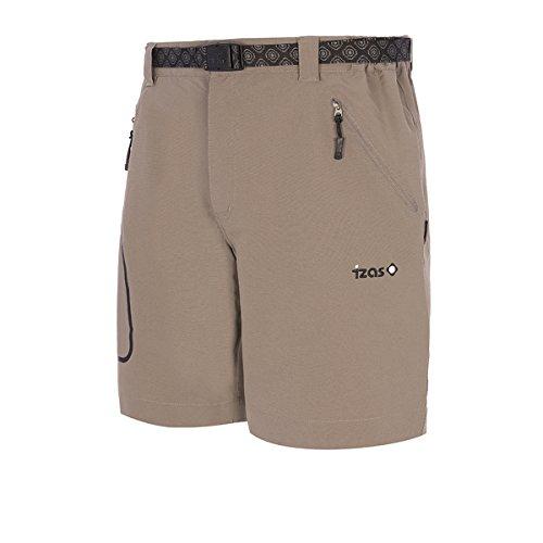 IZAS ZALLA Shorts de Montagne Homme, Argent, FR : 2XL (Taille Fabricant : XXL)