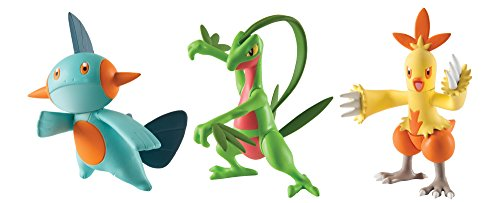 Pokémon Action Pose 3 Pack, Grovyle, Combusken and Marshtomp