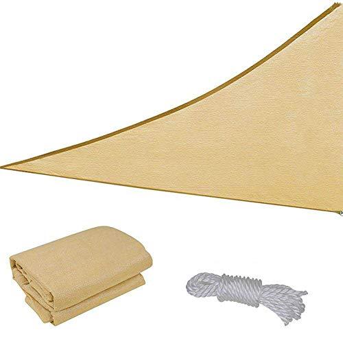 Overmont 5m x 5m Voile dombrage B/âche Pare-Soleil de Plein Air Tente Solaire Toit de Camping Imperm/éable Tente de Plage Vert//Bleu