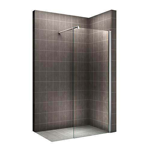 i-flair Walk In Dusche, 10mm STARK, Duschabtrennung aus ESG Sicherheitsglas mit NANObeschichtung #840 (120cm x 200cm)