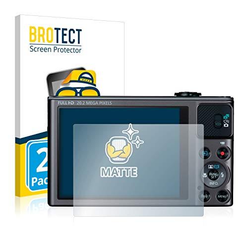 BROTECT Protector Pantalla Anti-Reflejos Compatible con Canon PowerShot SX620 HS (2 Unidades) Pelicula Mate Anti-Huellas