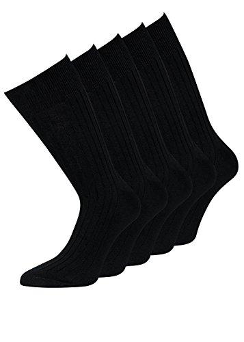 10 Paar Herrensocken Schwarz 100 Baumwolle Größe 47-50