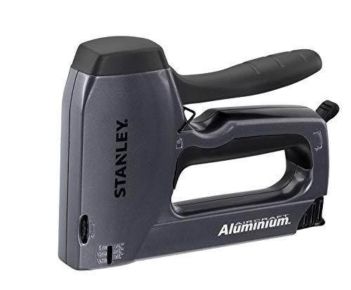 Stanley TR250 Handtacker und Nagler (mit Tiefenanschlag, Rückschlagsfrei, leichtgängiger Druckhebel, Klemmschutz) 6-TR250