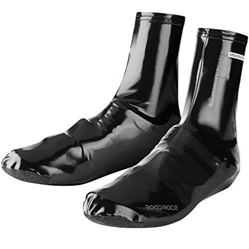 Madison Men Roadrace Pu Lycra Aero Overshoes - Black, Large
