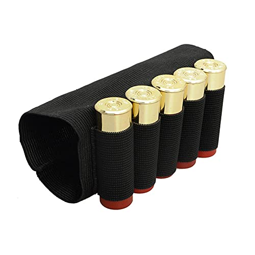 N \ A Bolsas de Escopeta táctica de Caza de Rifle 5 Cartuchos de cáscara de cáscara de cáscara de Tela elástica Portador de municiones Bolsa (2 PCS)