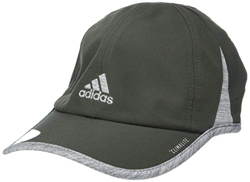 adidas Women's Superlite Relaxed Adjustable Performance Cap, Legend Earth Green/Heather Grey, ONE SIZE