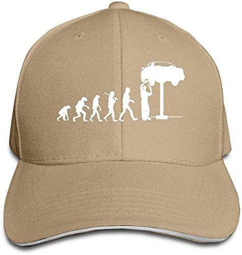 NSWZX Evolution of Man and Mechanic Gorra Tipo sándwich Ajustable Gorra de béisbol Casquette Hat