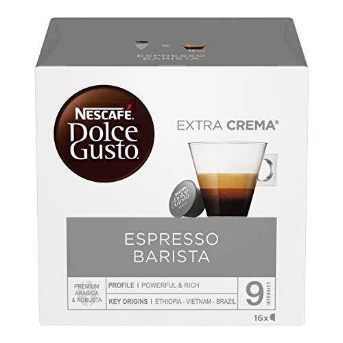 Nescafé Dolce Gusto Barista Caffè Espresso, 6 Confezioni da 16 Capsule (96 Capsule), intensità 9/13
