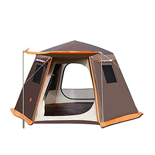 ZCZZ Camping para 3-8 Personas, Impermeable y a Prueba de Viento, fácil de Instalar, mochilero, ventilado y Adecuado para Viajes al Aire Libre y de Senderismo.