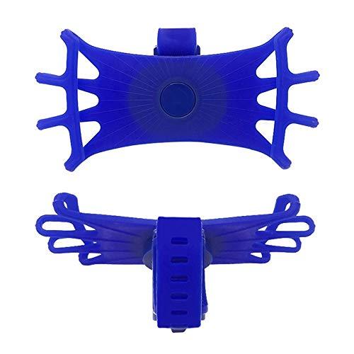 hclshops Soporte de silicona para teléfono móvil para bicicleta o manillar de bicicleta, soporte de montaje para bicicleta, soporte de teléfono para dispositivo GPS para teléfono (color azul)
