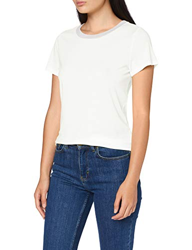 Q/S designed by - s.Oliver 510.12.004.12.130.2005632 T-Shirt Damen, Weiß (0100 White), M