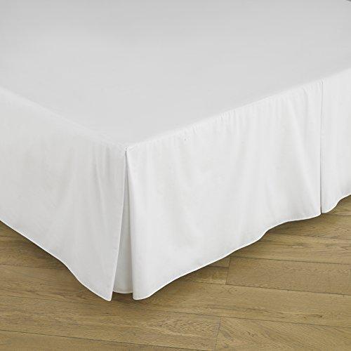 Easy Care Perkal Bereich Grund Valance Sheet (Super King 183cm x 200cm + 39cm Tropfen, weiß)