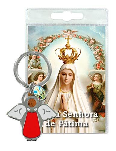 Ferrari & Arrighetti Llavero ángel con medallita de la Virgen de Fátima