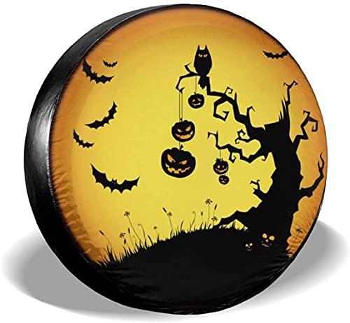 Halloween Witch - Cubierta para llanta de repuesto,poliéster,universal,de 17 pulgadas,para llantas de repuesto para remolques,casas rodantes,SUV,ruedas de camiones,camiones,caravanas,accesorios para
