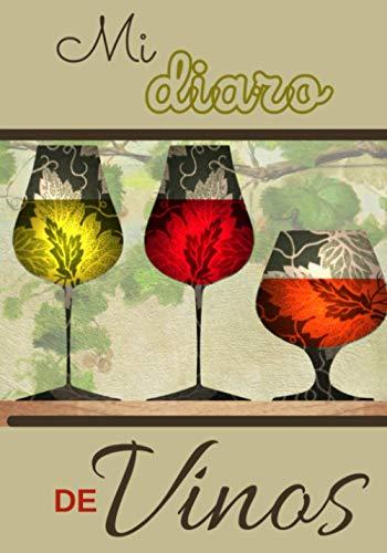 Mi diaro de vinos: Cuaderno de enología para completar - 100 fichas de cata de vinos a rellenar, con resumen, formato 17,78 * 25,4 cm