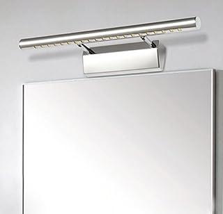 comprar comparacion Unicoco 5050 SMD - Lámpara de pared para espejo de baño (luz blanca fría), acero inoxidable, Plateado, 50