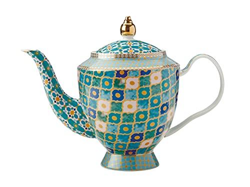 Maxwell & Williams HV0129 Teas & C's Kasbah Teekanne mit Teesieb in Geschenkbox, Porzellan, Minzgrün, 5 Tassen (1 Liter)
