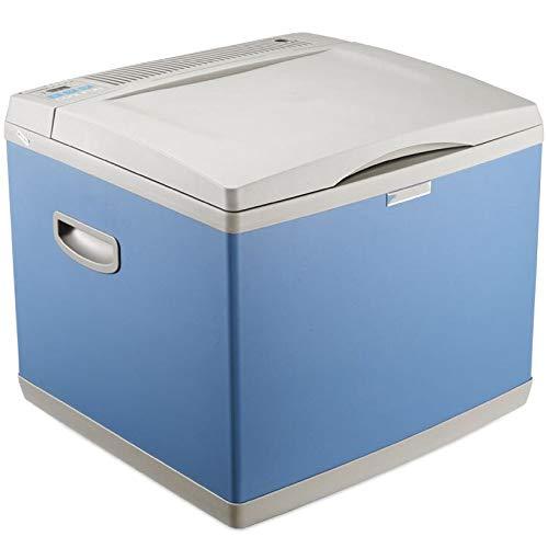SSLL Mini-koelkast, 40 liter, voor bierkratten, warmhoudbox, campingkoelkast, 12/24 volt, draagbare thermo-elektrische koelbox/verwarmingsbox voor auto, vrachtwagen en stopcontact