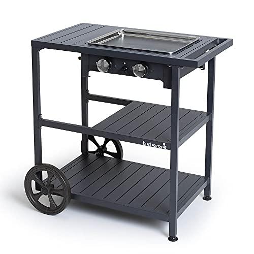 Barbecook Grillplatte Victor + Trolley, Schwarz
