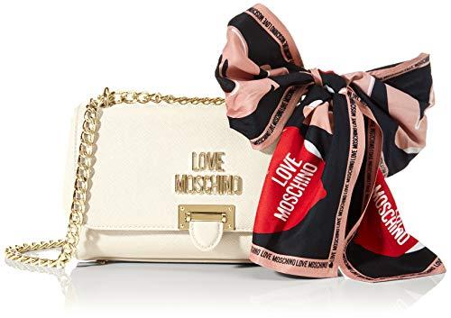 Love Moschino Jc4239pp0a, Pochette da giorno Donna, Avorio (Ivory), 10x15x24 cm (W x H x L)