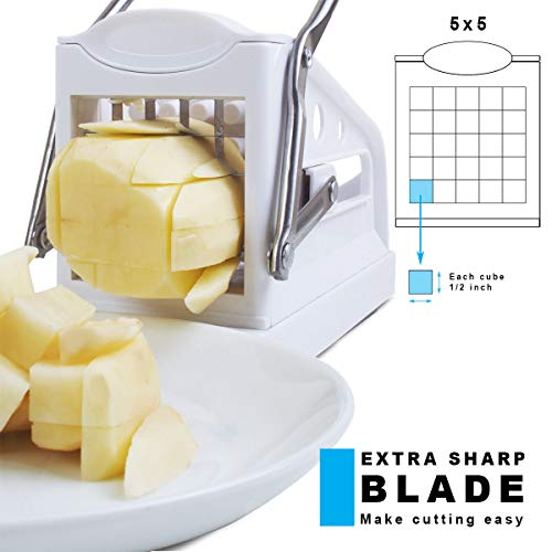 IMPECCABLE CULINARY OBJECTS (ICO) Potato Chipper and Vegetable Cutter/Dicer with Stainless Steel Blade & Handle