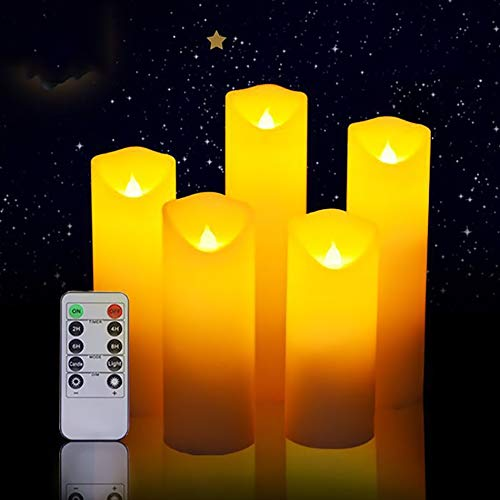 Suncolor8 Parpadeo Vacaciones de Navidad luz de la Vela Decorativa, sin Llama...