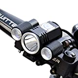 Bike Front Lights, Rechargeable Bicycle Headlights Super Bright CREE XML T6 LED With