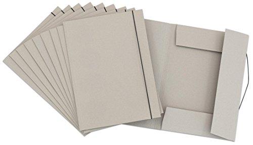 Unbekannt Sammelmappe DIN A3-10 x Aufbewahrungs-Mappe mit Gummi-Band - Ordnungsmappe Bürobedarf Schreibmappe Schreibwaren