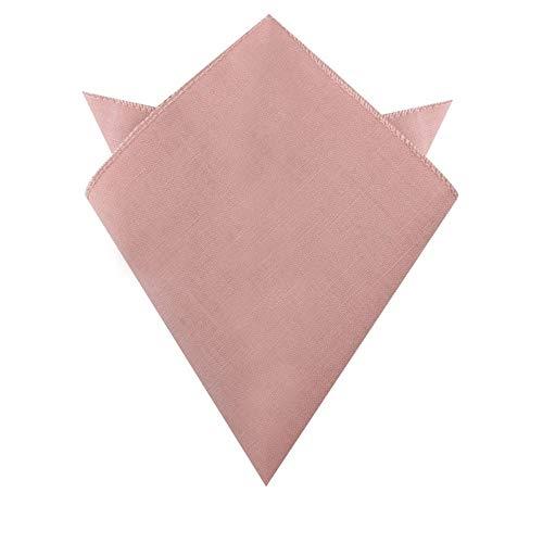 AUSCUFFLINKS Pañuelo de algodón de lino cuadrado con bolsillo rosa rubor | pañuelo de boda para padrinos | pañuelo de bolsillo rosa para novio