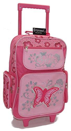 STEFANO Kinder Reisegepäck Schmetterling pink rosa -präsentiert von RabamtaGO- (Trolley)