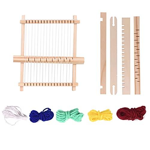 Telaio per Tessitura Bambini,Kit Telaio Per Tessitura Telaio A Mano In Legno Per Principianti E Bambini Giocattoli Educativi Artigianato Fai-Da-Te