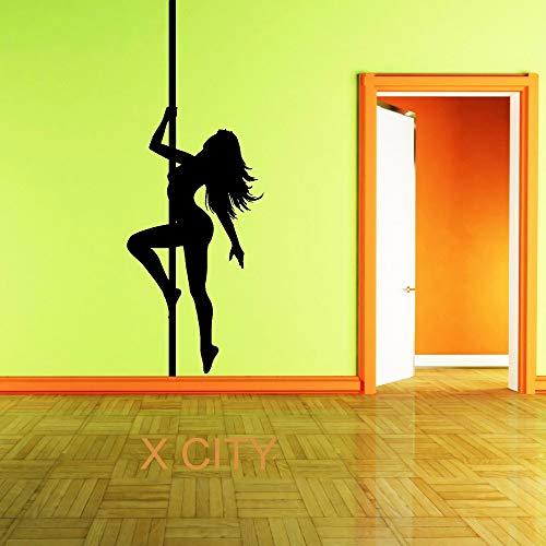 Suuyar Sexy Lady Vinyl Wandkunst Zimmer Aufkleber Aufkleber Silhouette Frau Tür Fenster Schablonen WandbildDekoration