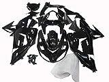 ZXMT Motorcycle Fairing Kit Glossy Black Fairings for Kawasaki Ninja ZX-10R 2006 2007 (19 Pcs)