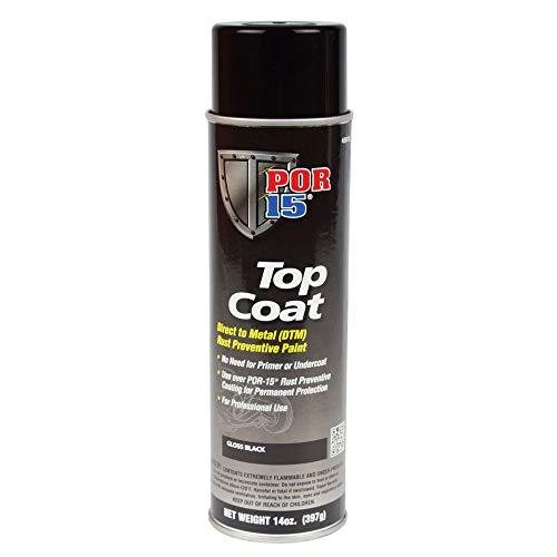 POR-15 Gloss Black Top Coat Spray Paint (15 fl. oz.) Direct to Metal Paint |...