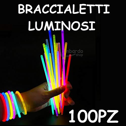 Applife Braccialetti Luminosi Starlight Fluorescenti BRACCIALI Disco Fluo DJ (100 Pezzi)