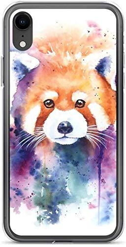 No brand Red Panda Splash Watercolor Cover Cover Compatibile con iPhone (X/XS)
