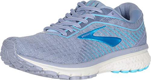 Brooks Womens Ghost 12 Running Shoe - Tempest/Kentucky Blue - B - 9.5