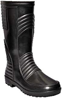 Hillson TC07HLS0177_Size 7 Welsafe Safety Gumboots with Lining, Black, Size 7 UK
