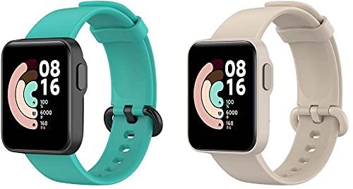 Gransho compatível com Xiaomi Mi Watch Lite/Redmi Watch Pulseira de Relógio, Pulseiras de Reposição de Silicone Macio (Pattern 4+Pattern 9)