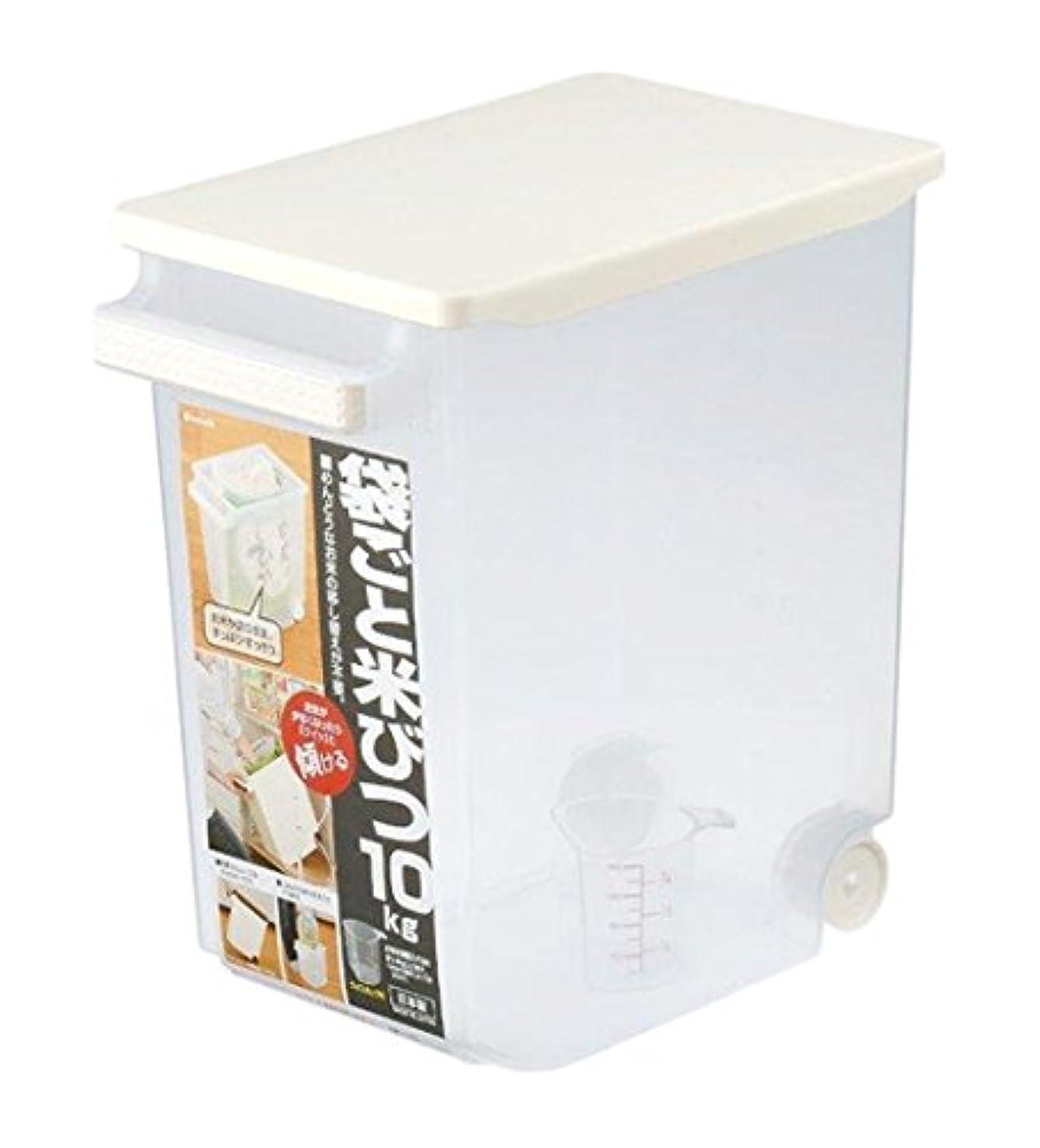 嘆願ブランド名レタッチイノマタ化学 米びつ 袋ごと米びつ 計量カップ付き 10Kg