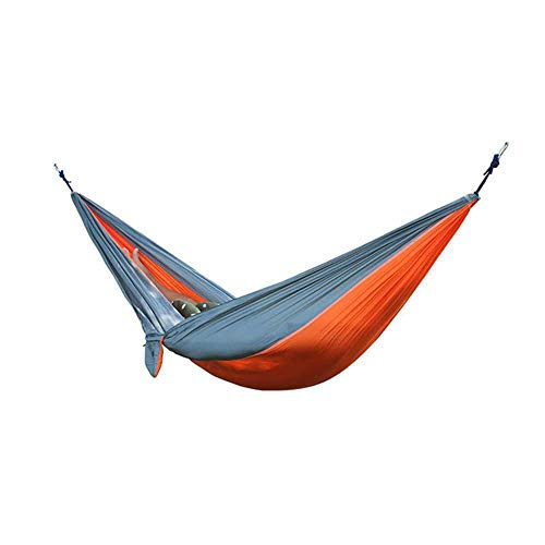 NOBRAND Portable Hammock Double Person Camping Survival Garden Hunting Leisure Travel Furniture Parachute Hammocks With Straps