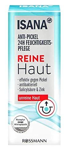 Reine Haut Anti-Pickel 24h Feuchtigkeitspflege - Effektiv gegen Pickel - Antibakteriell - Salicylsäure & Zink - Für unreine Haut - 50 ml