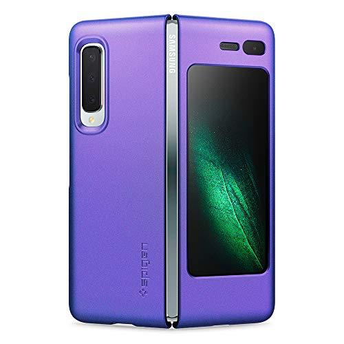 Spigen 615CS26159 Thin Fit Kompatibel mit Samsung Galaxy Fold Hülle, Slim PC Schale Hardcase Leicht Dünn Schutzhülle Handyhülle Hülle Blau