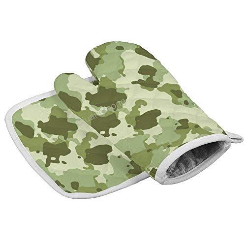 IMERIOi - Guante militar resistente al calor, diseño de camuflaje, color verde
